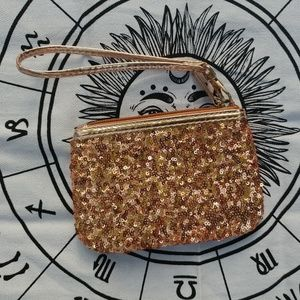Charmie Charie Rose Gold Sequin Coin Purse